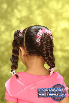 Back View: Pigtail Braids Black Hairstyles for Little Girls