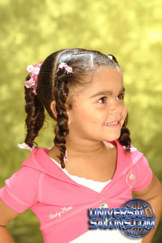 Right View: Pigtail Braids Black Hairstyles for Little Girls