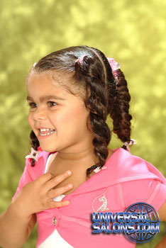 Left View: Pigtail Braids Black Hairstyles for Little Girls