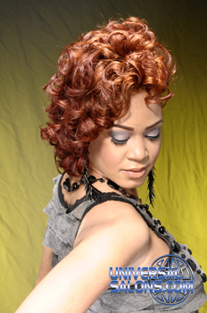 Half Up, Half Down Hairstyle with Curls and Color from LaQuinta Thimoleon