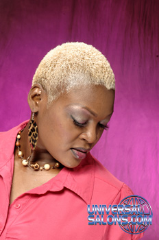 Short Blonde Hair Cut from Melodie Trice