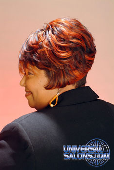 Professional Hairstyle with Color from Tina Gattison