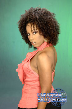 Afro-Centric Natural Hairstyle with Tight Curls from Paulette Edwards