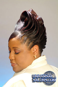 Updo Hairstyle With Ridges From Garnett Jett Universal