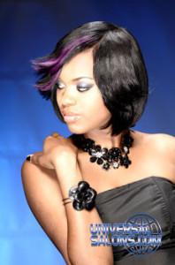 Nakia Boykin's Medium Length Hairstyle with Highlights