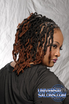 Dread Curls Hairstyle with Hair Color from Karline Ricketts