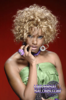 Curly Hairstyle with Color from Rasheeda Berry