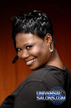 Beautiful Short Hairstyle with Flipped Bang from Brione Bullock