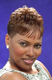 Short Honey Blond Hairstyle from Sheila Jenkins