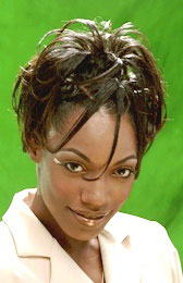 Curly Updo with Knots in the Back Hairstyle from Kimeka White
