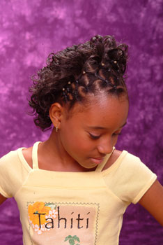 Right View: Intricate Cornrow Designs Black Hairstyles for Little Girls
