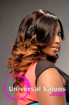"""Sheronda Coleman's """"Phoenix Curls"""" Long Hairstyle with Hair Color and Curls"""