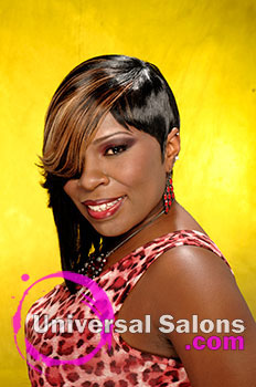 """Katina King's """"Fierce"""" Short Hairstyle with Hair Color"""