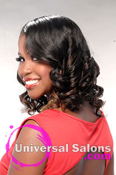 Long Hairstyle with Curls and Highlights from De'Nisha Aiken