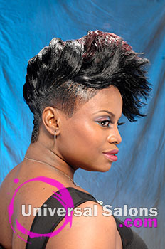 "Felicia ""Potege"" Bristol's ""Whipped Mohawk"" Short Hairstyle"