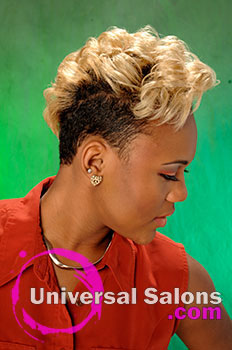 Cora Saxton's Mohawk Hairstyle with Hair Color