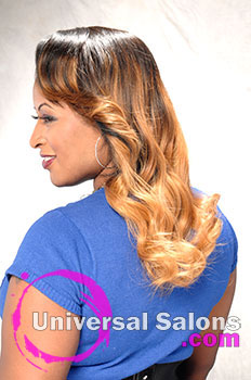"Denise Granberry's ""Ombre Sew-In"" Long Hairstyle with Hair Color"