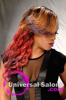 "Leslie Boykin's ""The Love of Color"" Long Hairstyle with Round Curls"