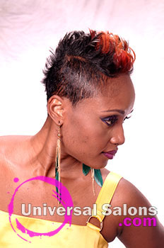 "Alvienia Middleton's ""Inferno"" Short Hairstyle with Hair Color"
