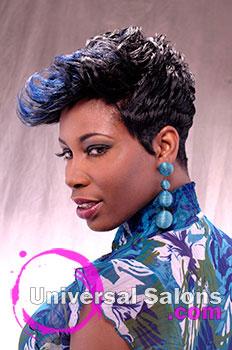 """Natasha Johnson's """"Blue Indigo"""" Short Hairstyle"""