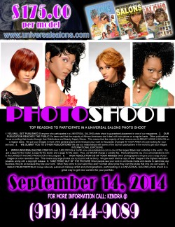 Fley for Universal Salons Durham NC Photo Shoot