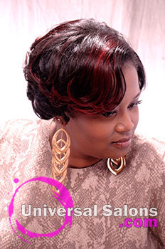 "Felicia Maine's ""Curl Madness"" Curly Hairstyle with Highlights"