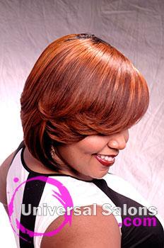 Dre' Ramseur Blanton's Bold Caramelized Retro Bob Hairstyle