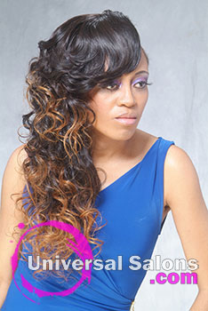 Long Shaved Ombre Sew In Hairstyle from Denise Granberry