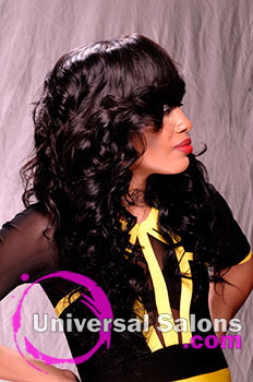 Denise Granberry's Sew In Hairstyle with a Side Part and Virgin Hair