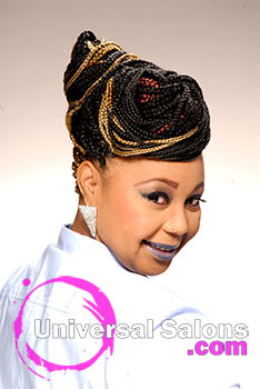 Queen McKee Clyburn's Box Braids Updo Hairstyle