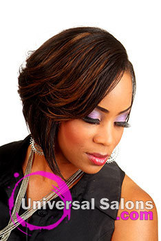 Beautiful Short Black Hairstyle with Color Highlights from Ms. Jackee