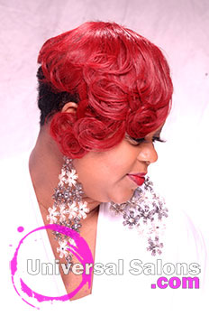 Marcus Doss' Partial Sew In Hairstyle with Layers and Curls