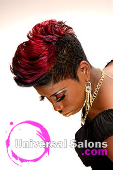"Nikia Gorham's Color ""Me"" Bad Short Mohawk Hairstyle with Highlights"