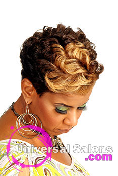 Nancy Hamilton's crazy Curls Black Hairstyles with Hair Color