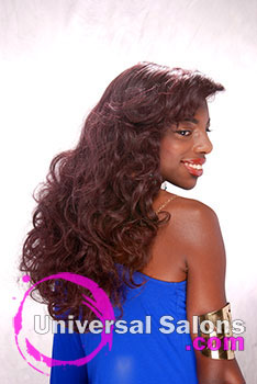 Long Flowing Hairstyle with Curly Extensions from Shamekia Dunn