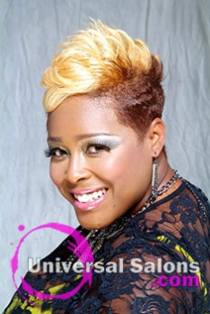 Short Hairstyle with Two Toned Hair Color from Kenya Young