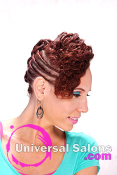Natural Twist Updo with Hair Color from Katrina Mack