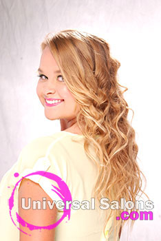 Haley Qubn's Beach Bombshell Long Curly Hairstyle