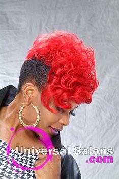 Frangetter Battle's Red Matrix Medium Hairstyle