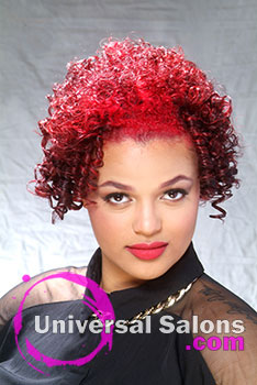 """Tee"" Rogers' Natural Hairstyle with ""Fire"" Hair Color"
