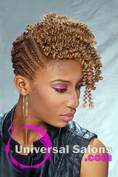 Natural Edge Crochet Braids Hairstyle by Rasheeda Berry