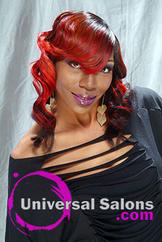 Retro Waves Hairstyle with Dragon Fire Hair Color by Deanna Burton