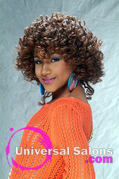 Curly Rod Set Black Hairstyle by Pamela Webster