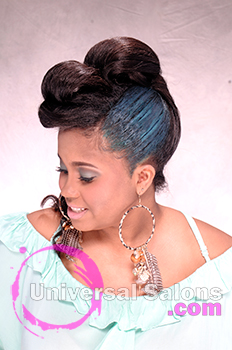 "Shae Thompson's ""Mint Caramel"" Updo with Hair Color"