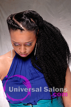 Natural Twist Ponytail Hairstyle from Marie Coleus