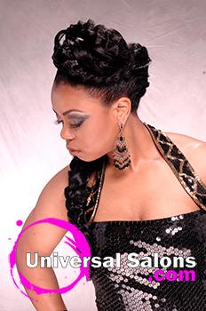"Rasheeda Berry's ""Red Carpet Edge"" Formal Updo"