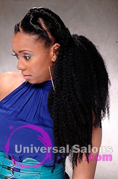 Natural Twist Ponytail Hairstyle