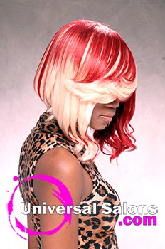 Bonded Bob Hairstyle with Hair Color