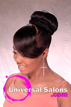 Fierce & Flawless Updo with a Bang