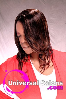 Sew In Hairstyle with Highlights